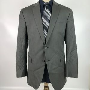 Kenneth Cole 44R Gray Wool Blazer Sport Coat